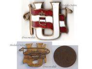 Austria Hungary WW1 Submarine Uboat Veterans League Badge KuK Fleet Austro-Hungarian Navy WWI 1914 1918 Great War