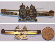Austria Hungary WW1 KuK Austro-Hungarian Silver Cross Cap Badge