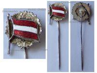 Austria WW1 Republic German-Austria Flag Stickpin Cap Badge 1918 1919
