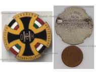 Austria Hungary WW1 Cap Badge with the Central Powers Flags Black Cross Hohenzollern Habsburg Hindenburg Hotzendorf by the Office for War Effort