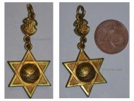 Austria Hungary WW1 AMICITIA INSTITUTIO 1877 Judaica Gold Medal Jewish Institution Friendship Solidarity