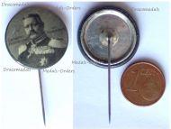 Austria Hungary Germany WW1 Field Marshal Paul von Hindenburg Patriotic Cap Badge Stickpin