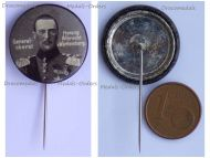 Austria Hungary Germany WW1 Generaloberst Herzog Albrech von Wurttemberg Patriotic Cap Badge Stickpin