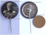 Austria Hungary Germany WW1 King Ludwig III of Bavaria Patriotic Cap Badge Stickpin