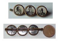 Turkey Germany Austria Hungary WW1 Badge United Kaisers Sultan Mehmed Wilhelm Franz Joseph WWI Great War 1914 1918