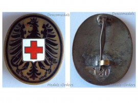 Austria Red Cross Doctor Medic Badge Military Medal Numbered 2nd Austrian Republic