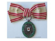 Austria Hungary WW1 Red Cross Silver Merit Medal with War Decoration 1864 1914 MINI