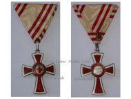 Austria Red Cross Decoration 2nd Class w/o Laurel 1864 1914 Military Medal KuK Kaiser Decoration Great War