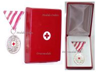 Austria Silver Red Cross Medal Merit Austrian Military Civil Decoration 1954 2nd Republic Boxed