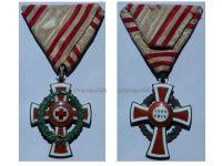 Austria Red Cross Decoration 2nd Class Laurel 1864 1918 Military Medal 1914 KuK Kaiser Decoration Great War