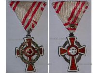 Austria Hungary Red Cross Decoration 2nd Class Laurel 1864 1918 Military Medal 1914 KuK Kaiser Decoration Great War