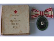 Austria Hungary WW1 Red Cross Silver Merit Medal with War Decoration 1864 1914 by G.A. Scheid Boxed