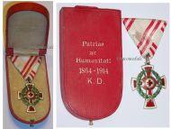 Austria Red Cross Decoration 2nd Class Laurel 1864 1914 Military Medal KuK Kaiser Decoration Great War 1918