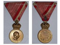 Austria Signum Laudis Crown Austrian WW1 Medal 1917 1918 FJ KuK Decoration Bronze