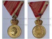 Austria Hungary WW1 Signum Laudis Military Merit Medal with Crown Bronze Class Kaiser Franz Joseph 1886 1916