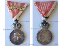 Austria Hungary WW1 Signum Laudis Military Merit Medal with Crown & Swords Silver Class Kaiser Franz Joseph 1911 1916 by the Vienna Mint