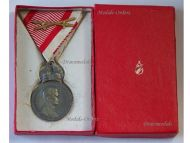 Austria Hungary Signum Laudis Crown Austrian WW1 Medal Swords 1917 1918 Kaiser Karl KuK Decoration Boxed