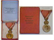 Austria Signum Laudis Crown Austrian WW1 Medal 1917 1918 FJ KuK Decoration Bronze Boxed