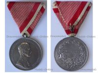 Austria Hungary WW1 Silver Fortitudini Medal for Bravery 1st Class Kaiser Karl 1917 1918 by Kautsch