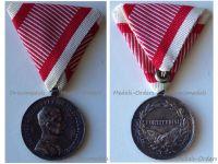Austria Hungary WW1 Silver Fortitudini Medal for Bravery 2nd Class Kaiser Karl 1917 1918 by Kautsch