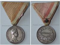 Austria Fortitudini Medal Bravery Silver 2nd Class Austrian WW1 Kaiser Karl 1917 1918 Decoration Great War Silvered Bronze