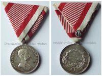 Austria Hungary WW1 Small Silver Tapferkeit Bravery Medal 2nd Class Kaiser Franz Jozeph 1914 1916 Unsigned