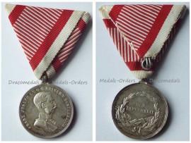 Austria Tapferkeit Medal Bravery Silver 2nd Class Austrian WW1 Kaiser Franz Jozeph 1914 1916 KuK Decoration Great War Unsigned