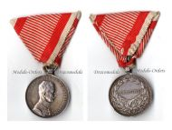 Austria Fortitudini Medal Bravery Silver 2nd Class Austrian WWI Kaiser Karl 1917 1918 Decoration Great War
