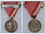 Austria Fortitudini Medal Bravery Silver 2nd Class with Repetition Bar Austrian WW1 Kaiser Karl 1917 1918 Decoration Great War