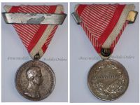 Austria Hungary WW1 Silver Fortitudini Medal for Bravery 2nd Class with Repetition Clasp Kaiser Karl 1917 1918 by Kautsch