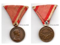Austria Hungary WW1 Bronze Fortitudini Medal for Bravery 3rd Class Kaiser Karl 1917 1918 by Kautsch