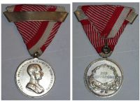 Austria Hungary WW1 Small Silver Tapferkeit Bravery Medal 2nd Class with Repetition Bar Kaiser Franz Jozeph 1914 1916 Unsigned