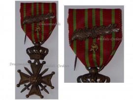 Belgium WW1 War Cross Medal Croix Guerre 1914 1918 Palms Bronze Lion Belgian Great War Decoration WWI King Albert