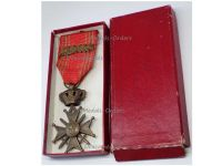 Belgium WWII War Cross Medal Croix Guerre 1939 1945 palms L Belgian Merit WW2 Decoration King Leopold III Boxed