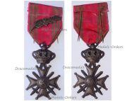 Belgium WW2 War Cross with Palms L King Leopold III