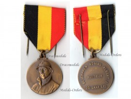Belgium WW2 Veterans King Albert Military Medal 20 years Membership WWII 1939 1945 Belgian Decoration Award Flemish