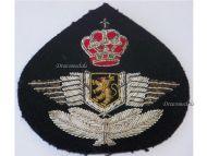 Belgium WW2 Belgian Royal Air Force Wings Visor Cap Badge NCO Insignia Military Medal Decoration