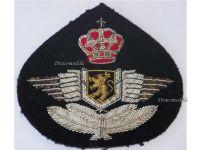 Belgium RBAF Belgian Royal Air Force Cap Badge for NCO 1950s