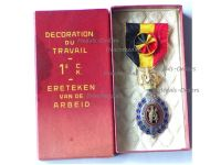 Belgium Habilete Moralite Labor Merit Medal 1st Class Bilingual 1958 Boxed by DeGreef