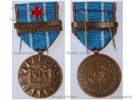 Belgium Korean War Medal 1950 1953 with Clasps Korea-Coree Imjin & Wound Red Cross