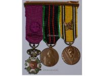 Belgium WW2 Officer Order Leopold Resistance Military Medals set Decoration Award WWII 1940 1945 MINI