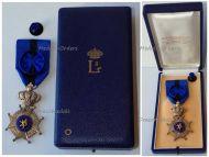 Belgium Belgian Congo Order Leopold II Officer's Cross Bilingual 1952 Silver 900 Boxed by Walravens
