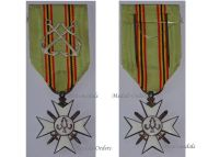 Belgium WW1 Maritime Decoration Cross II Class Silver Crossed Anchors WWI 1914 1918 Belgian Naval Medal Navy Great War