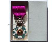 Belgium WW1 Order Leopold I Knight's Cross Civil Division Boxed