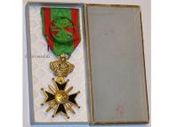 Belgium WW2 Military Cross 1st Class 25 years Service Belgian Army Medal Award Decoration 1952 boxed