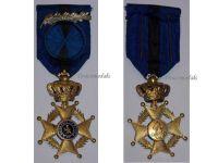 Belgium Belgian Congo WW1 Order Leopold II Officer's Cross with King Albert's Silver Palms