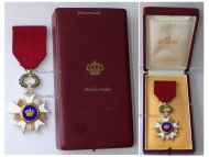 Belgium WW2 Order of the Crown Knight's Star by Degreef Boxed
