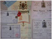 Belgium WW2 Cross Veterans King Albert Military Medal 3 palms 1939 Belgian Decoration 6 Diplomas 1940 1945