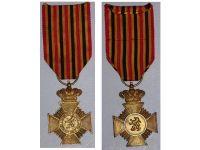 Belgium WW2 Military Cross Long Service Army NCO 10 years Belgian Decoration Award 1952