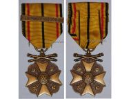 Belgium WW2 Civic Medal War Merit 3rd Class Bronze bar 1940 1945 Belgian Decoration Award King Leopold III